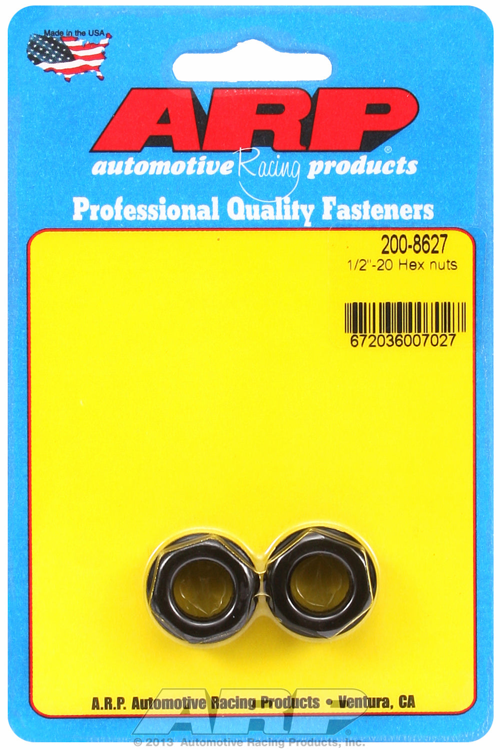 1/2-20 2-PC Pack Hex Nut