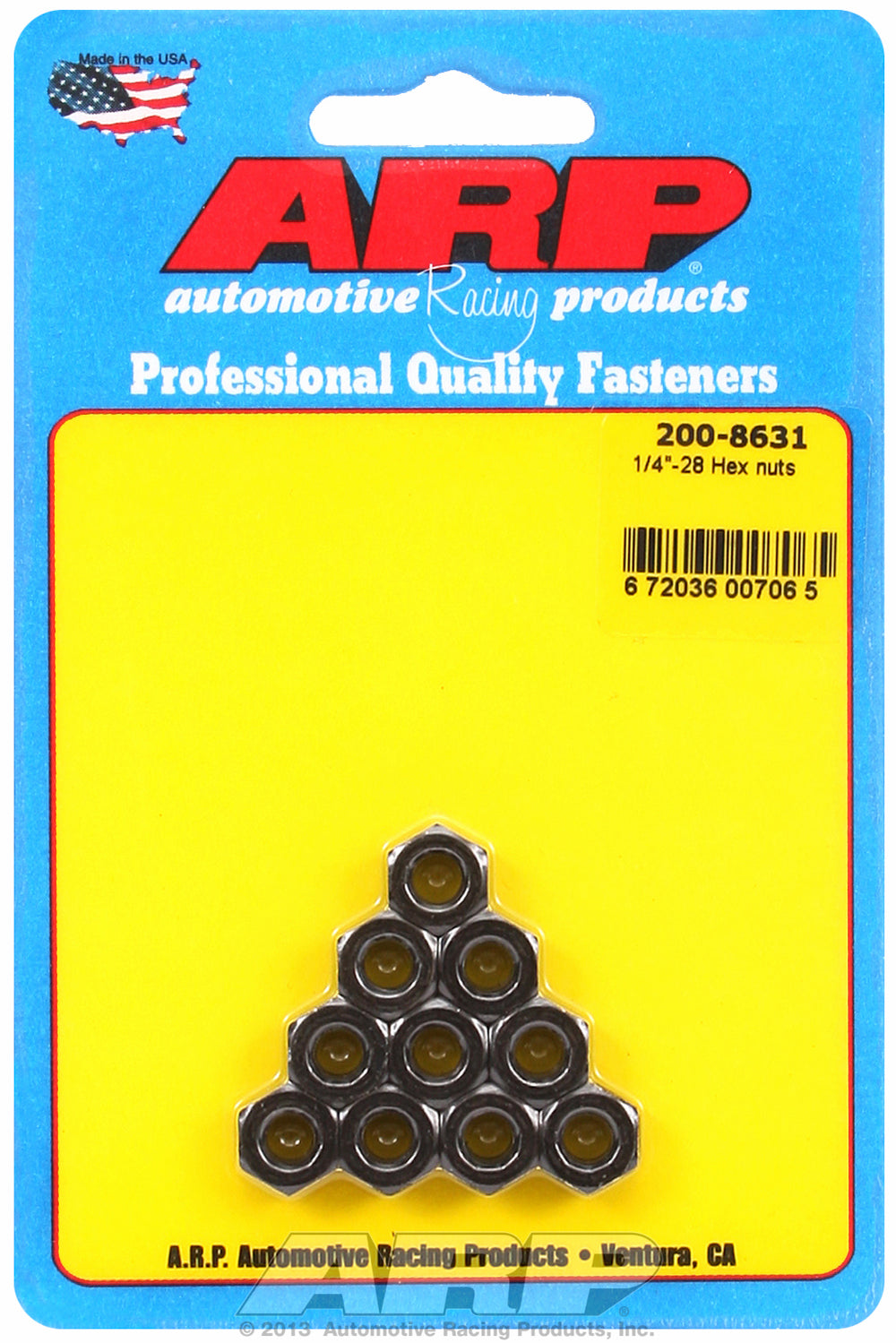 1/4-28 (2) 10-Pc Pack Hex Nut