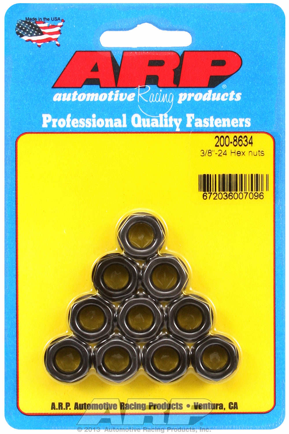 3/8-24 10-Pc Pack Hex Nut
