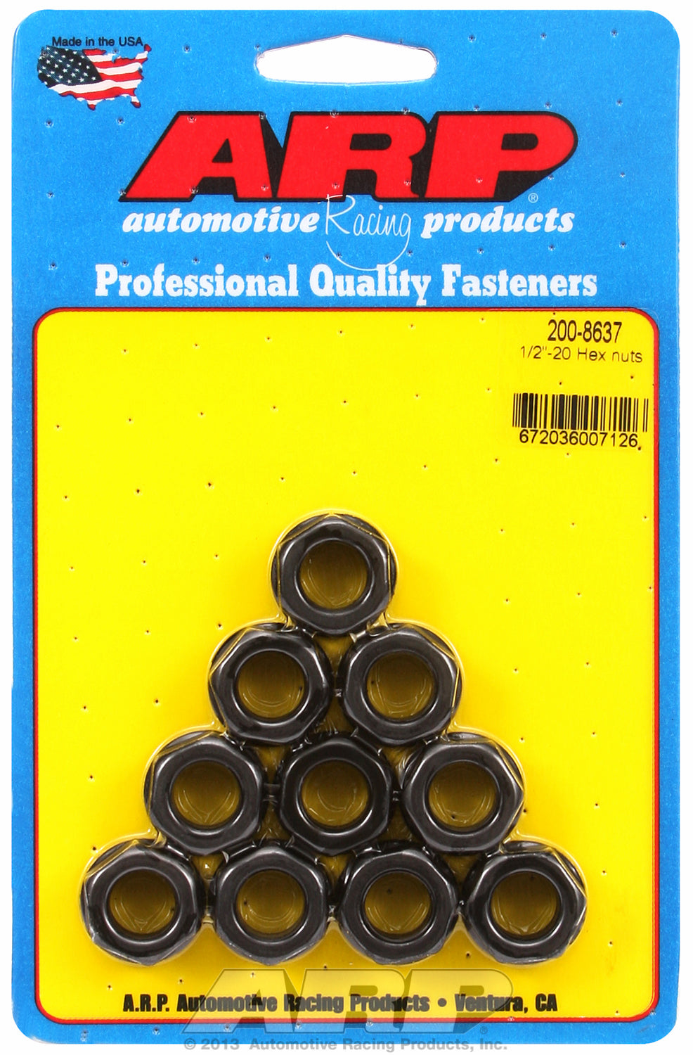 1/2-20 10-Pc Pack Hex Nut