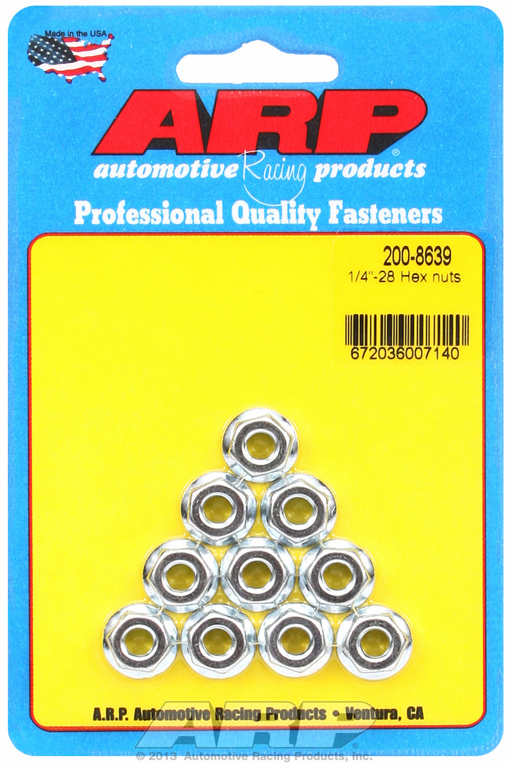 1/4-28 10-Pc Pack Serrated Flange Nut