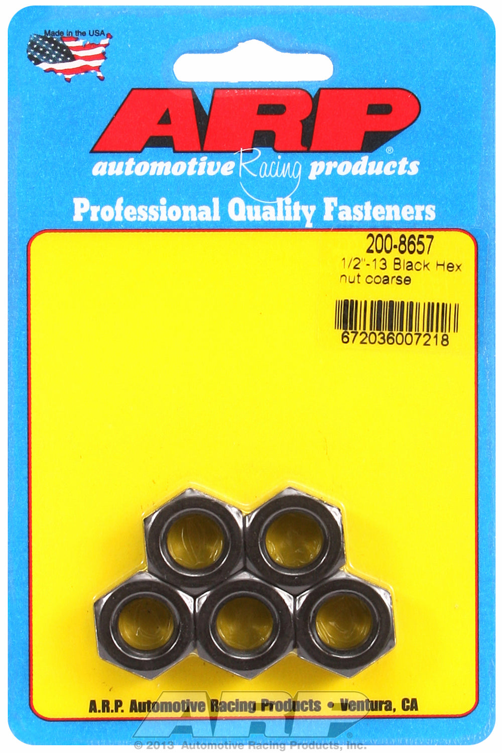 1/2-13 Black Oxide Hex Nut Kit 5-Pack