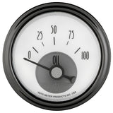 GAUGE, OIL PRESS, 2 1/16in, 100PSI, ELEC, PRESTIGE PEARL