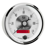 GAUGE, SPEEDO, 3 3/8in, 120MPH, ELEC. PROGRAM W/LCD ODO, PRESTIGE PEARL
