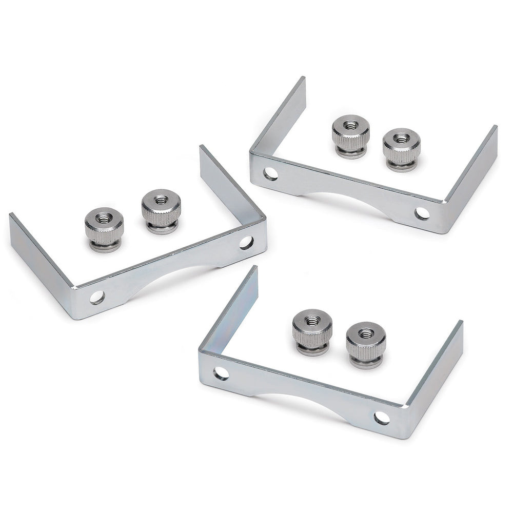 GAUGE BRACKET KIT, 2 5/8in, ALUMINUM, QTY 3