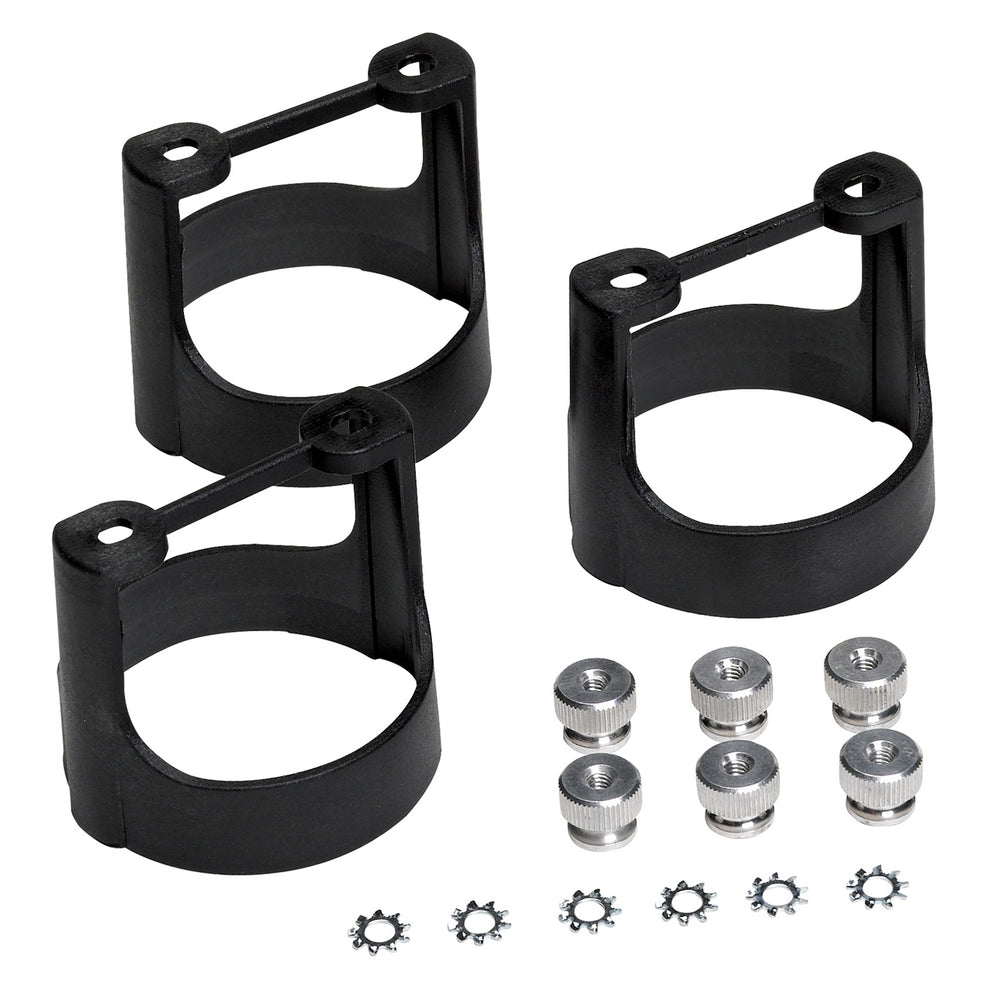 GAUGE BRACKET  KIT, 2 1/16in, BLACK COMPOSITE, QTY 3