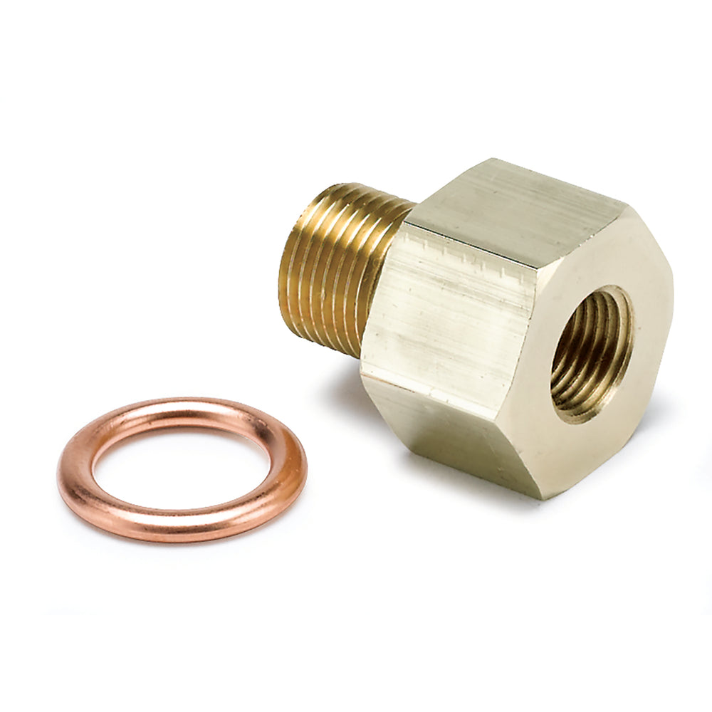 FITTING, ADAPTER, METRIC, M12X1 MALE TO 1/8in NPTF FEMALE, BRASS