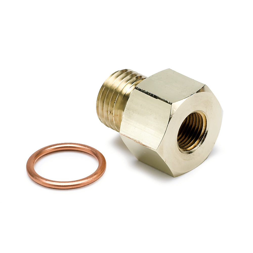 FITTING, ADAPTER, METRIC, M14X1.5 MALE TO 1/8in NPTF FEMALE, BRASS