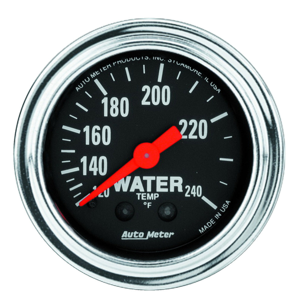 GAUGE, WATER TEMP, 2 1/16in, 120-240?F, MECHANICAL, TRADITIONAL CHROME