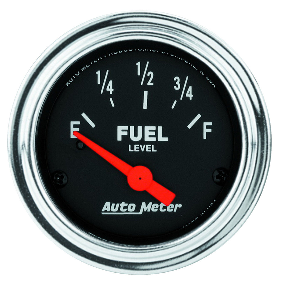 GAUGE, FUEL LEVEL, 2 1/16in, 0OE TO 90OF, ELEC, TRADITIONAL CHROME