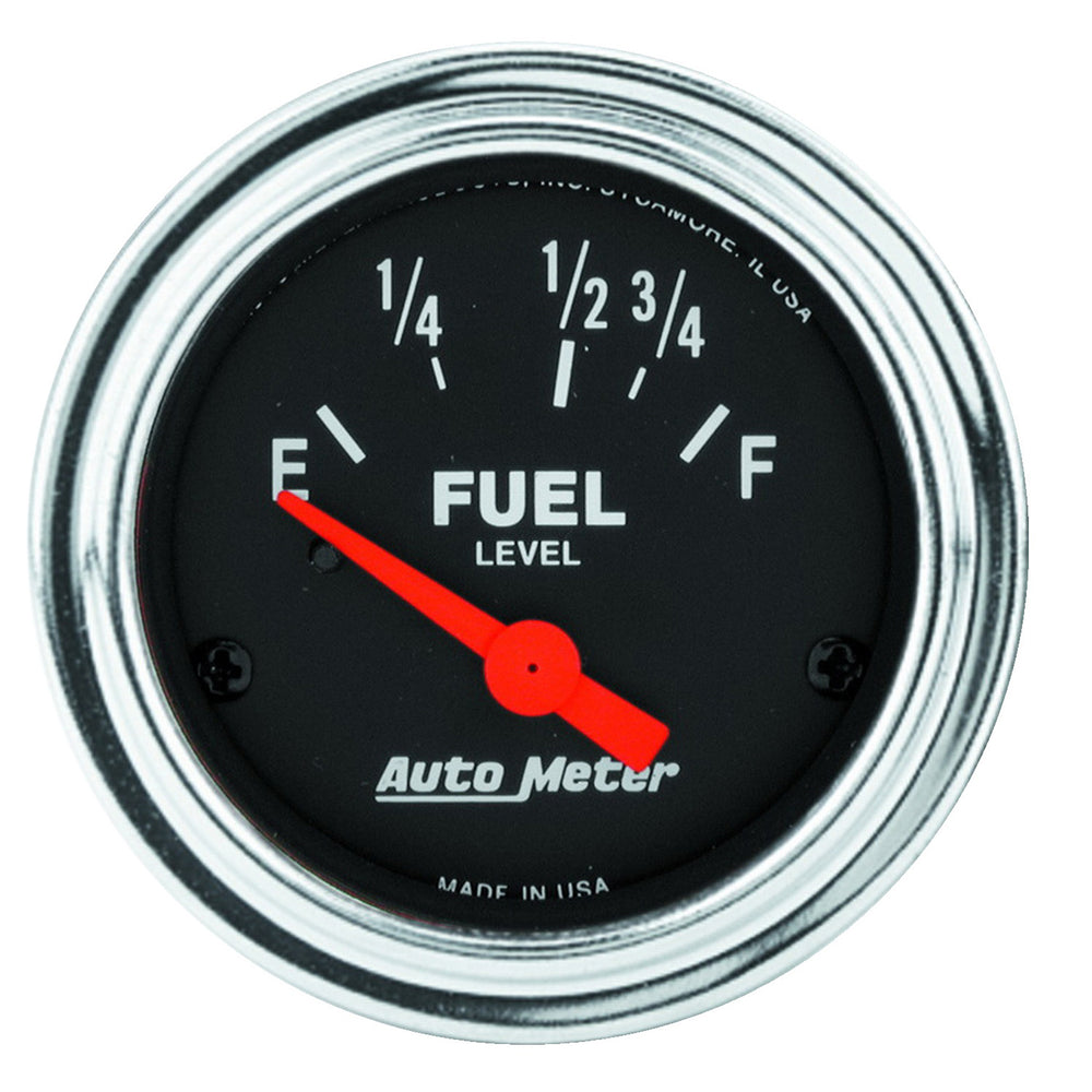 GAUGE, FUEL LEVEL, 2 1/16in, 16OE TO 158OF, ELEC, TRADITIONAL CHROME