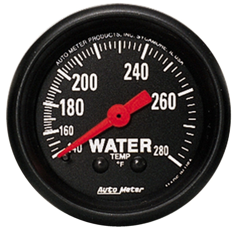 GAUGE, WATER TEMP, 2 1/16in, 140-280?F, MECHANICAL, Z-SERIES
