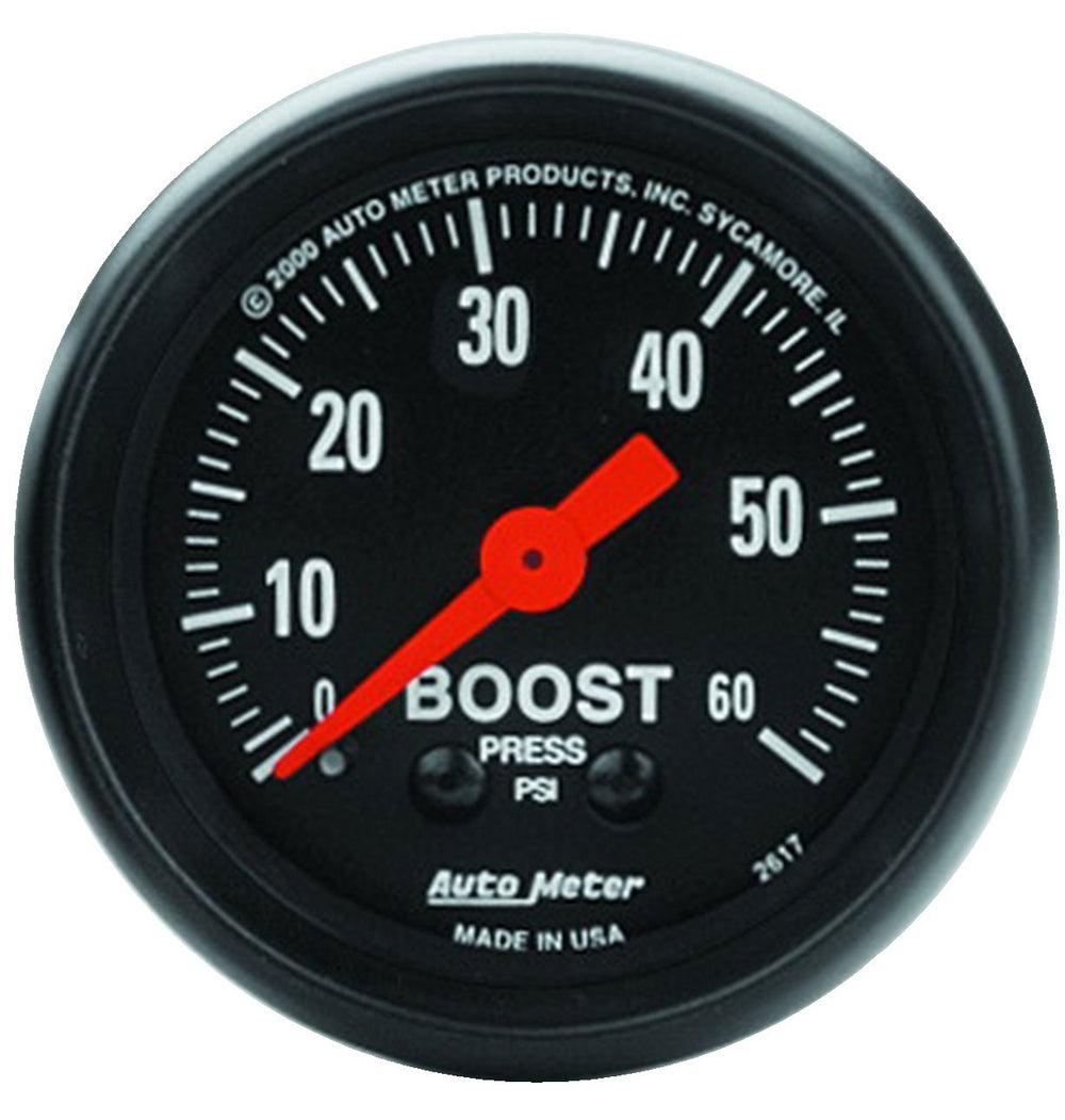 GAUGE, BOOST, 2 1/16in, 60PSI, MECHANICAL, Z-SERIES
