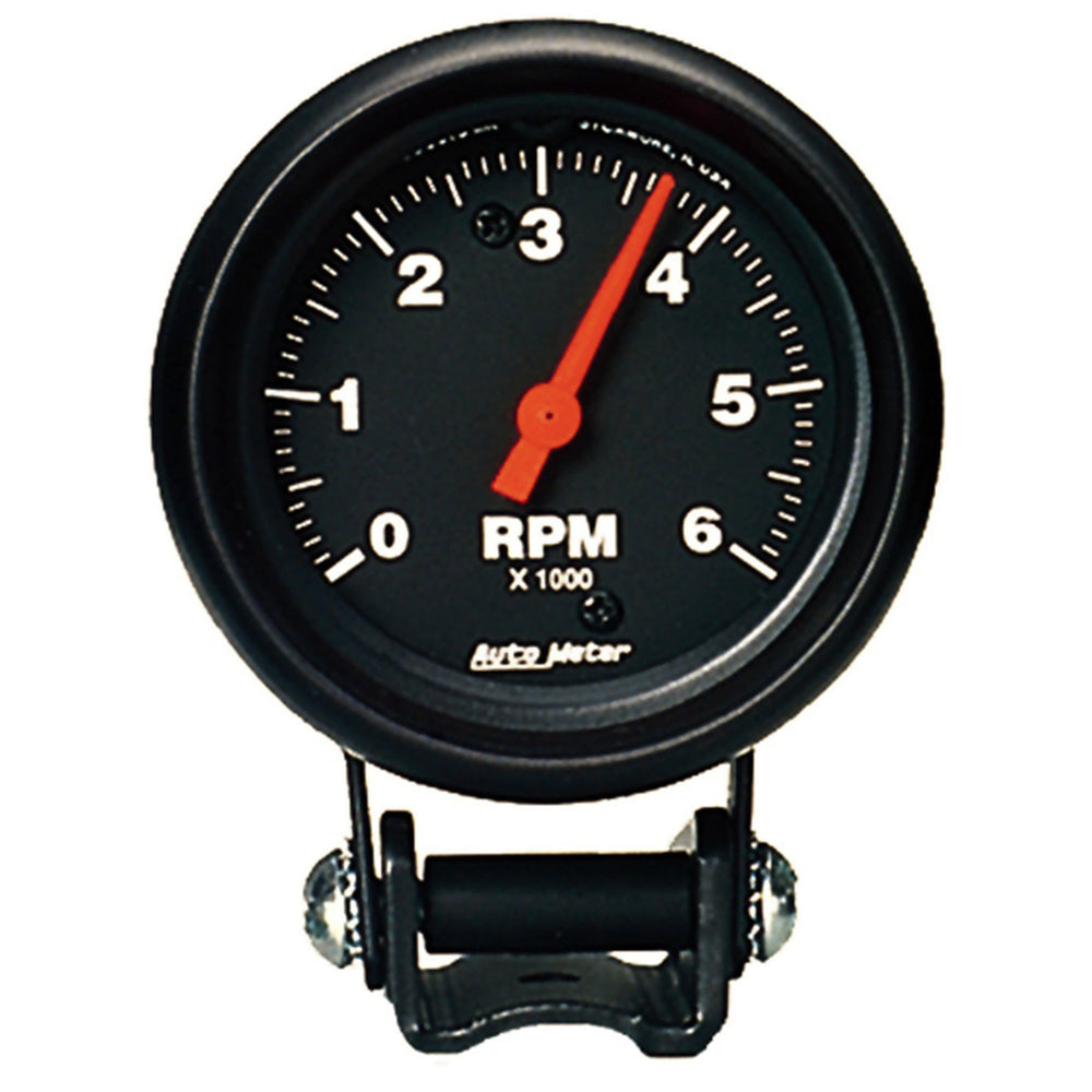 GAUGE, TACHOMETER, 2 5/8in, 6K RPM, PEDESTAL, Z-SERIES