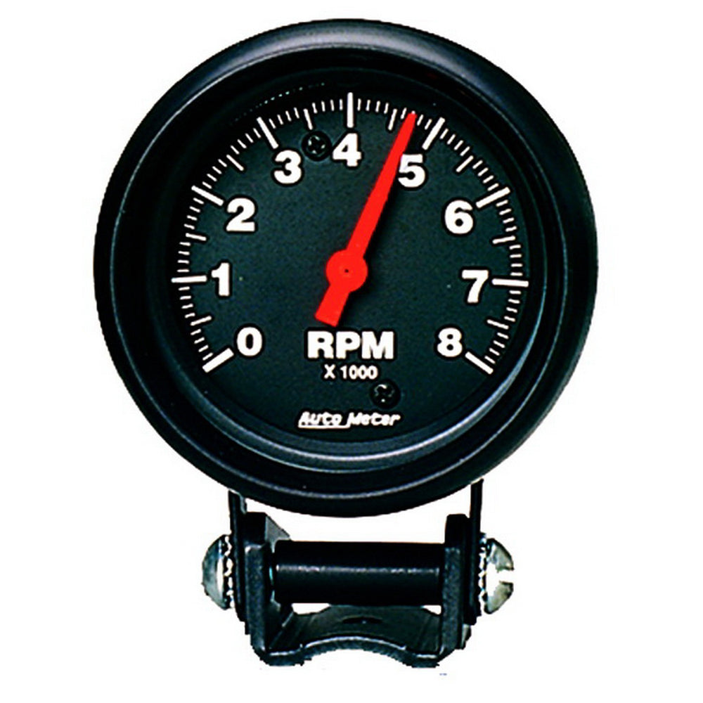 GAUGE, TACHOMETER, 2 5/8in, 8K RPM, PEDESTAL, Z-SERIES