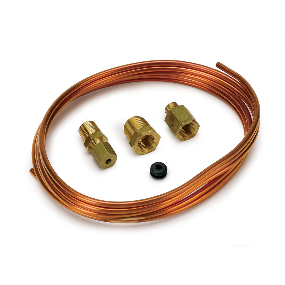 TUBING, COPPER, 1/8in, 6FT. LENGTH, INCL. 1/8in NPTF BRASS COMPRESSION FITTINGS