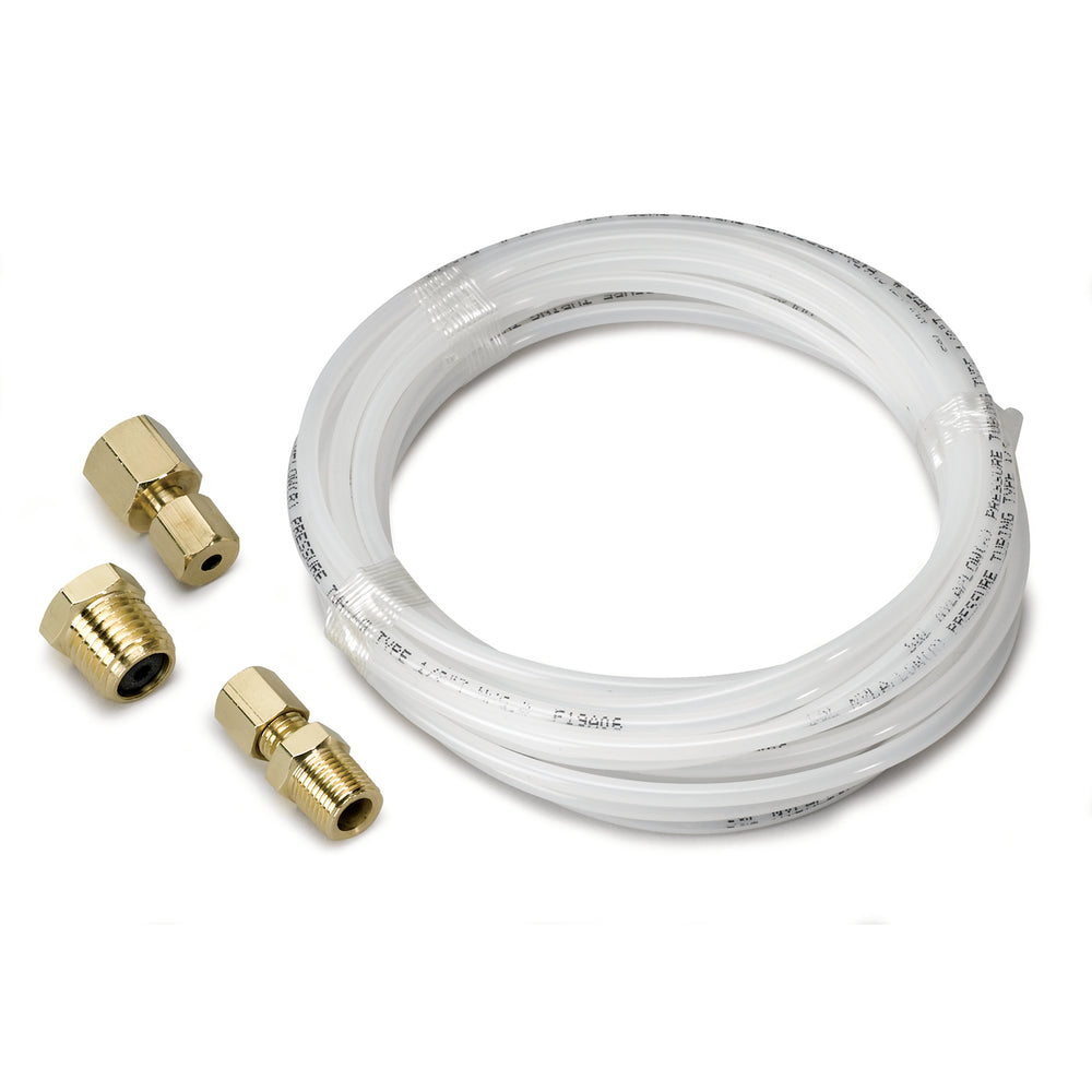 TUBING, NYLON, 1/8in, 12FT. LENGTH, INCL. 1/8in NPTF BRASS COMPRESSION FITTINGS