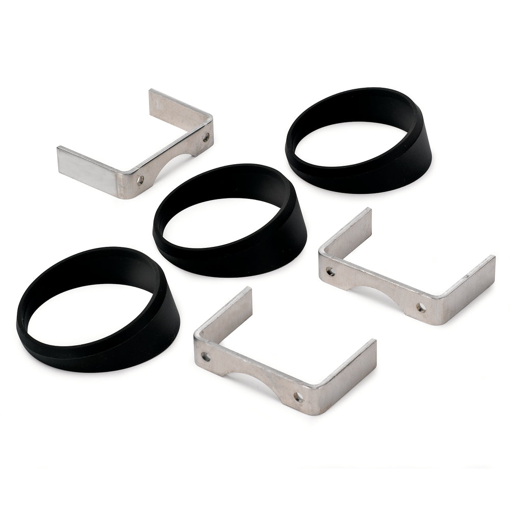GAUGE MOUNT, ANGLE RINGS, 3 PCS., BLACK, FOR 2 5/8in GAUGES