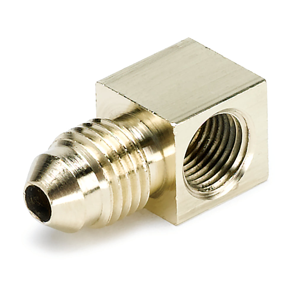 FITTING, ADAPTER, 90?, 1/8in NPTF FEMALE TO -4AN MALE, BRASS