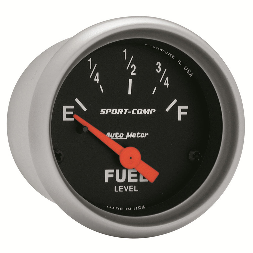 GAUGE, FUEL LEVEL, 2 1/16in, 0OE TO 90OF, ELEC, SPORT-COMP