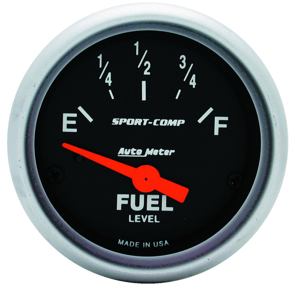 GAUGE, FUEL LEVEL, 2 1/16in, 0OE TO 30OF, ELEC, SPORT-COMP