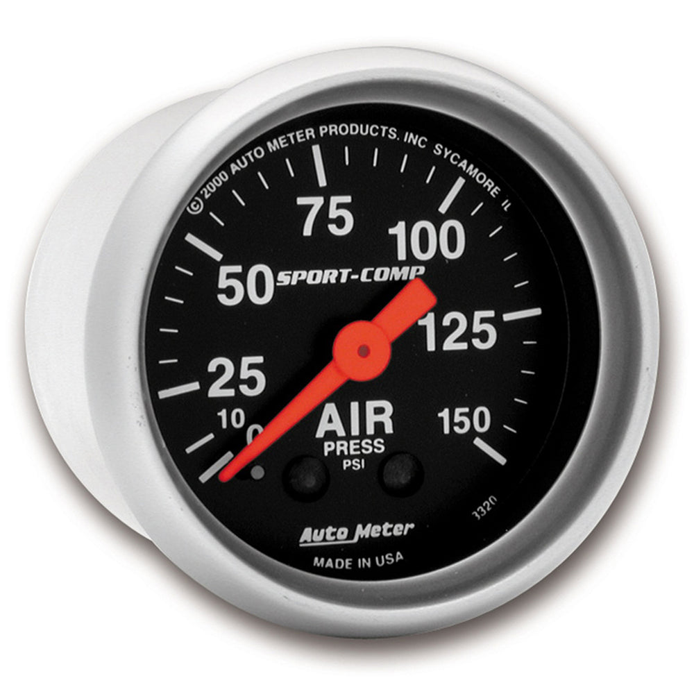 GAUGE, AIR PRESS, 2 1/16in, 150PSI, MECHANICAL, SPORT-COMP