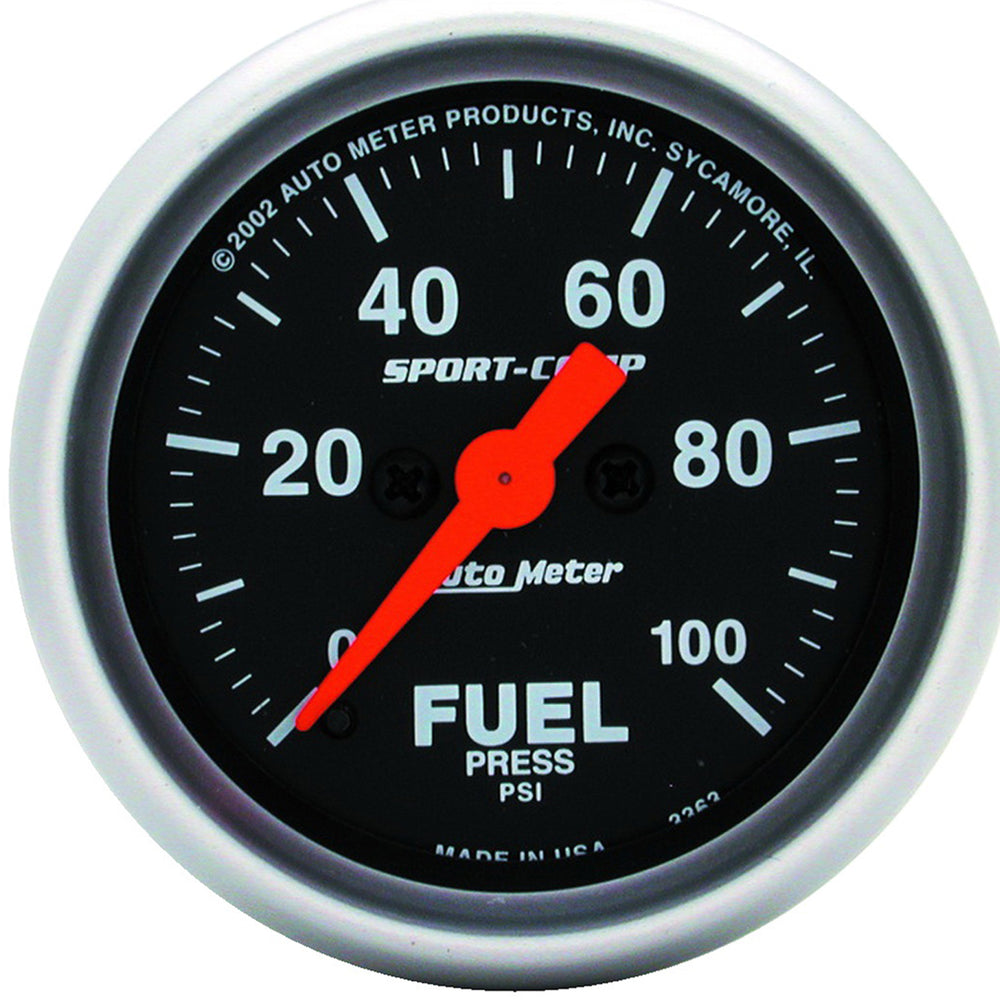 GAUGE, FUEL PRESSURE, 2 1/16in, 100PSI, DIGITAL STEPPER MOTOR, SPORT-COMP