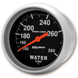 GAUGE, WATER TEMP, 2 5/8in, 140-280?F, MECHANICAL, SPORT-COMP