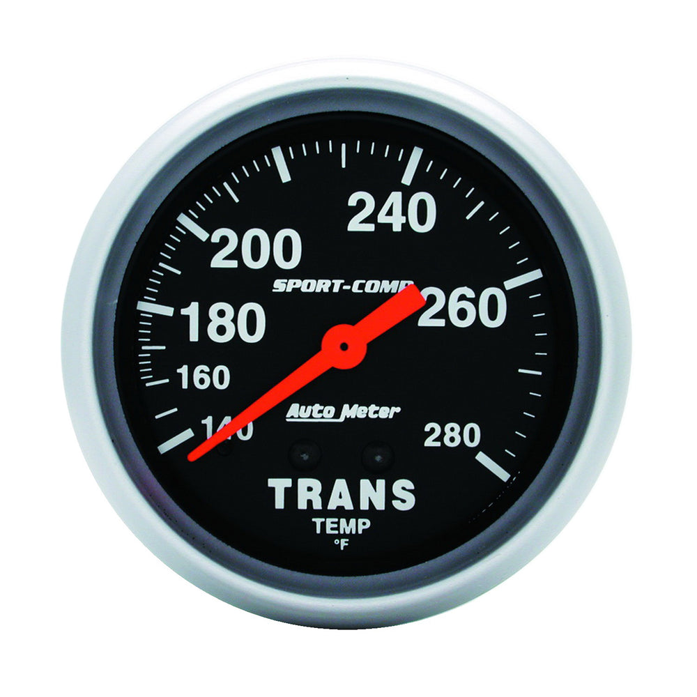 GAUGE, TRANSMISSION TEMP, 2 5/8in, 140-280?F, MECHANICAL, 8FT., SPORT-COMP