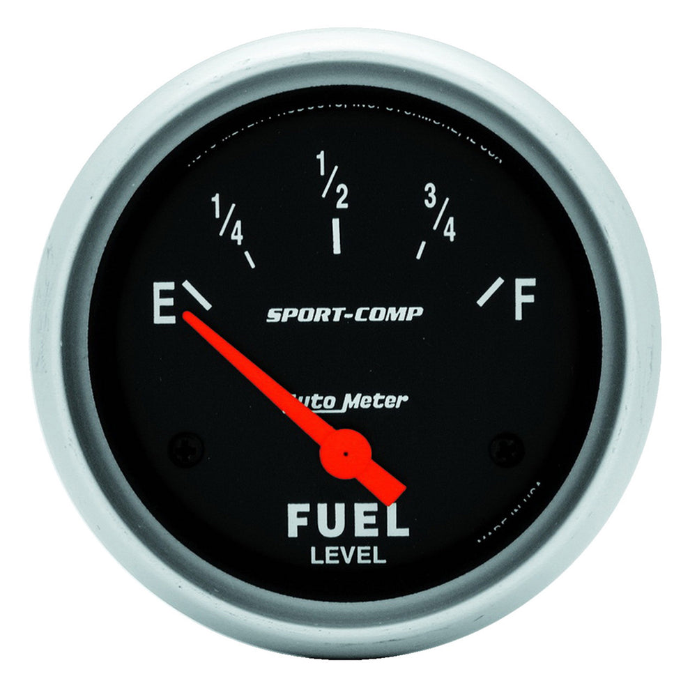 GAUGE, FUEL LEVEL, 2 5/8in, 0OE TO 90OF, ELEC, SPORT-COMP