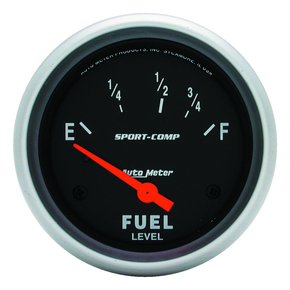 GAUGE, FUEL LEVEL, 2 5/8in, 240OE TO 33OF, ELEC, SPORT-COMP
