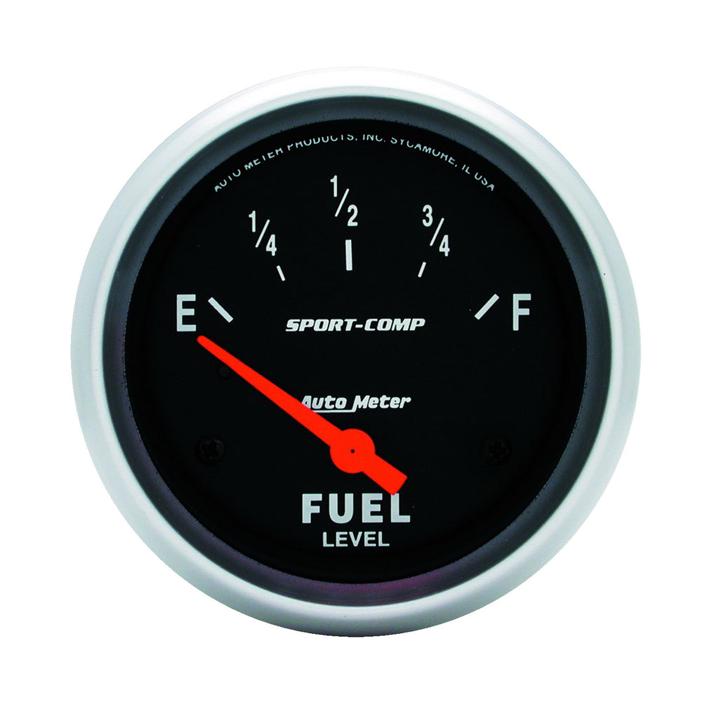 GAUGE, FUEL LEVEL, 2 5/8in, 0OE TO 30OF, ELEC, SPORT-COMP