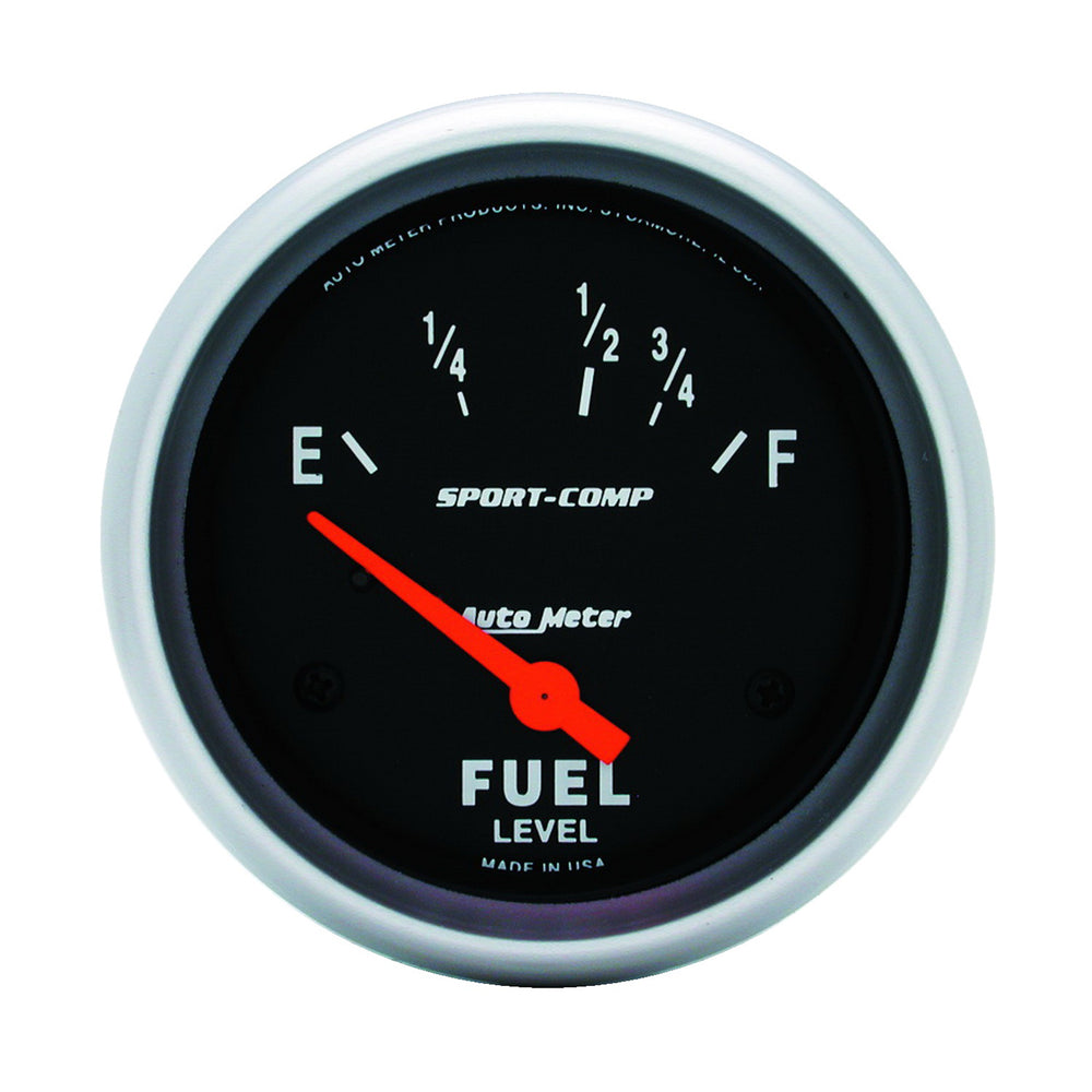 GAUGE, FUEL LEVEL, 2 5/8in, 16OE TO 158OF, ELEC, SPORT-COMP