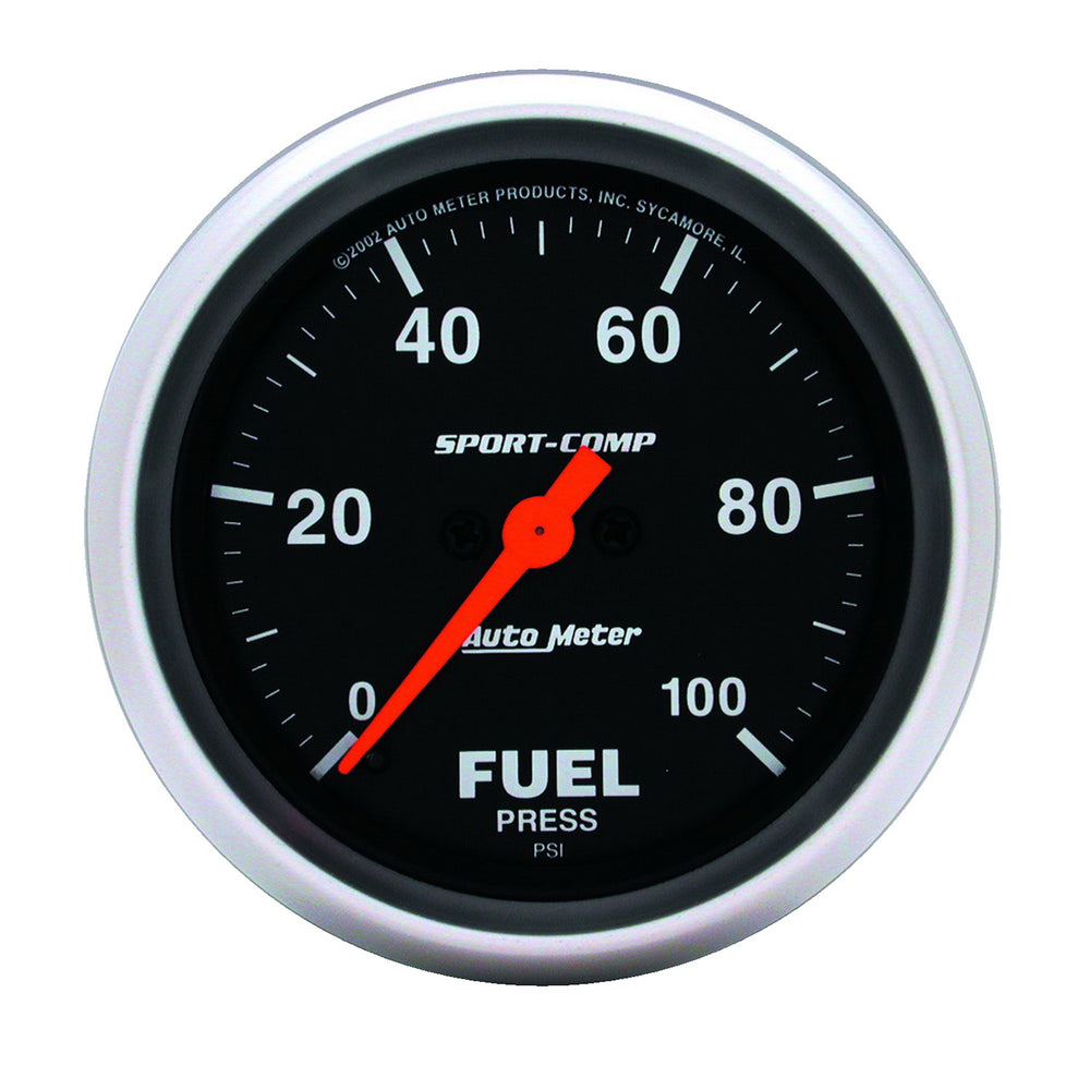 GAUGE, FUEL PRESSURE, 2 5/8in, 100PSI, DIGITAL STEPPER MOTOR, SPORT-COMP