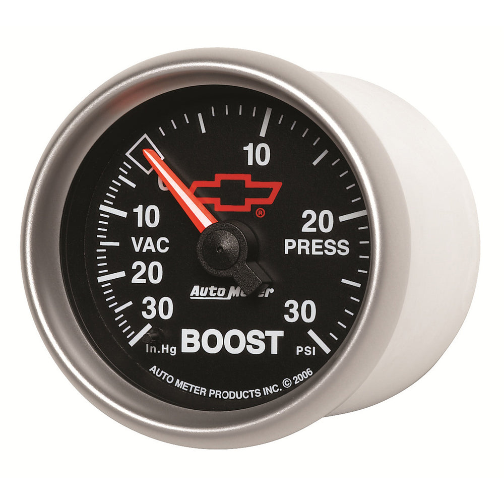GAUGE, VAC/BOOST, 2 1/16in, 30INHG-30PSI, MECHANICAL, GM BOWTIE BLACK