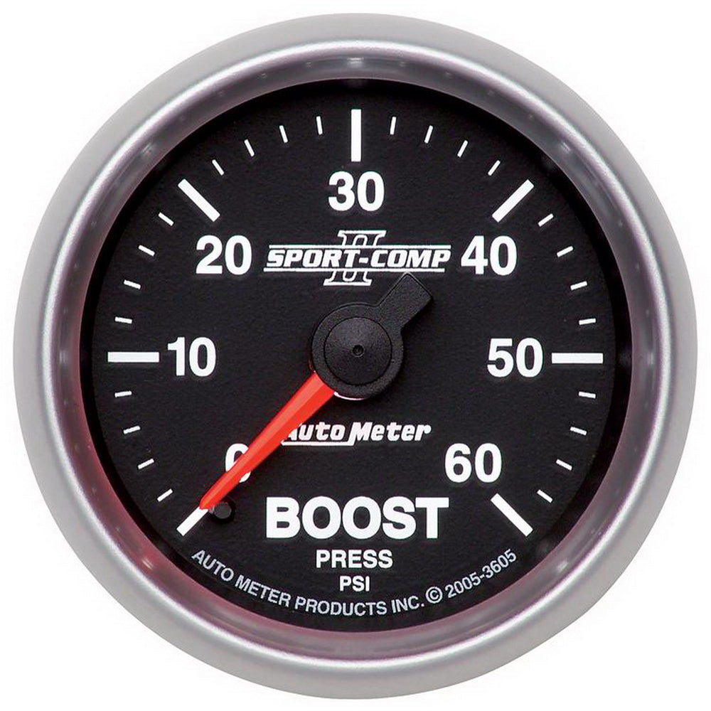 GAUGE, BOOST, 2 1/16in, 60PSI, MECHANICAL, SPORT-COMP II