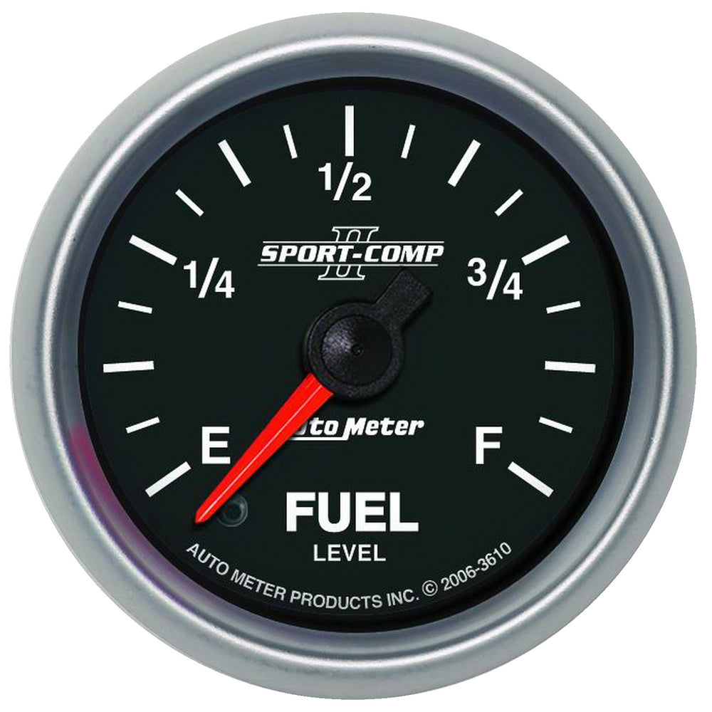 GAUGE, FUEL LEVEL, 2 1/16in, 0-280O PROGRAMMABLE, SPORT-COMP II