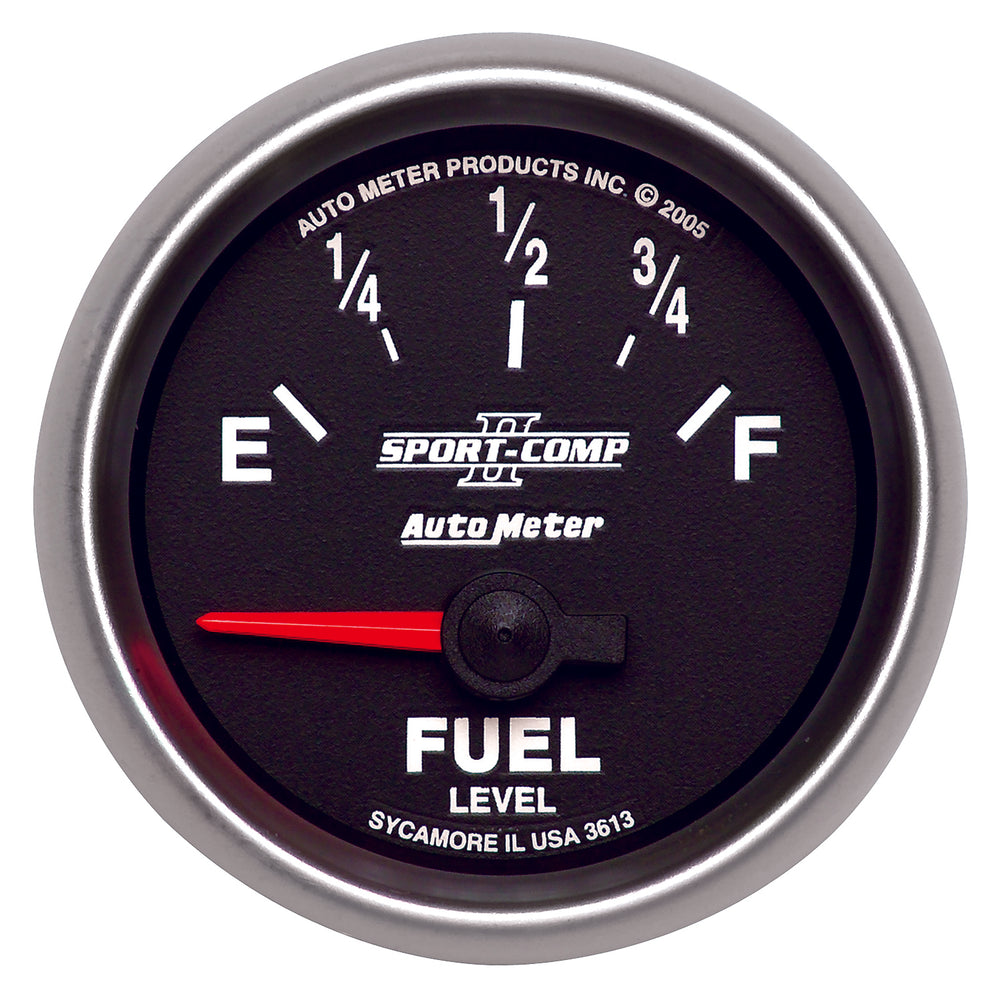 GAUGE, FUEL LEVEL, 2 1/16in, 0OE TO 90OF, ELEC, SPORT-COMP II