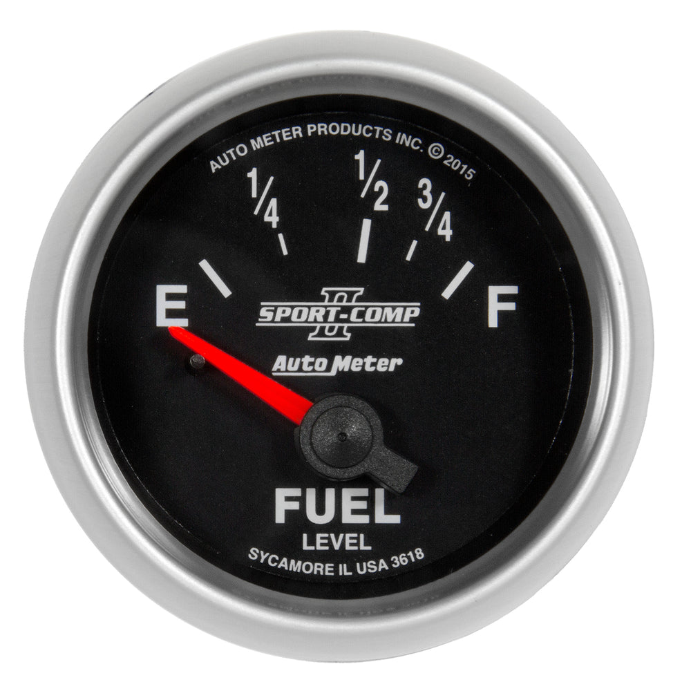 GAUGE, FUEL LEVEL, 2 1/16in, 16OE TO 158OF, ELEC, SPORT-COMP II