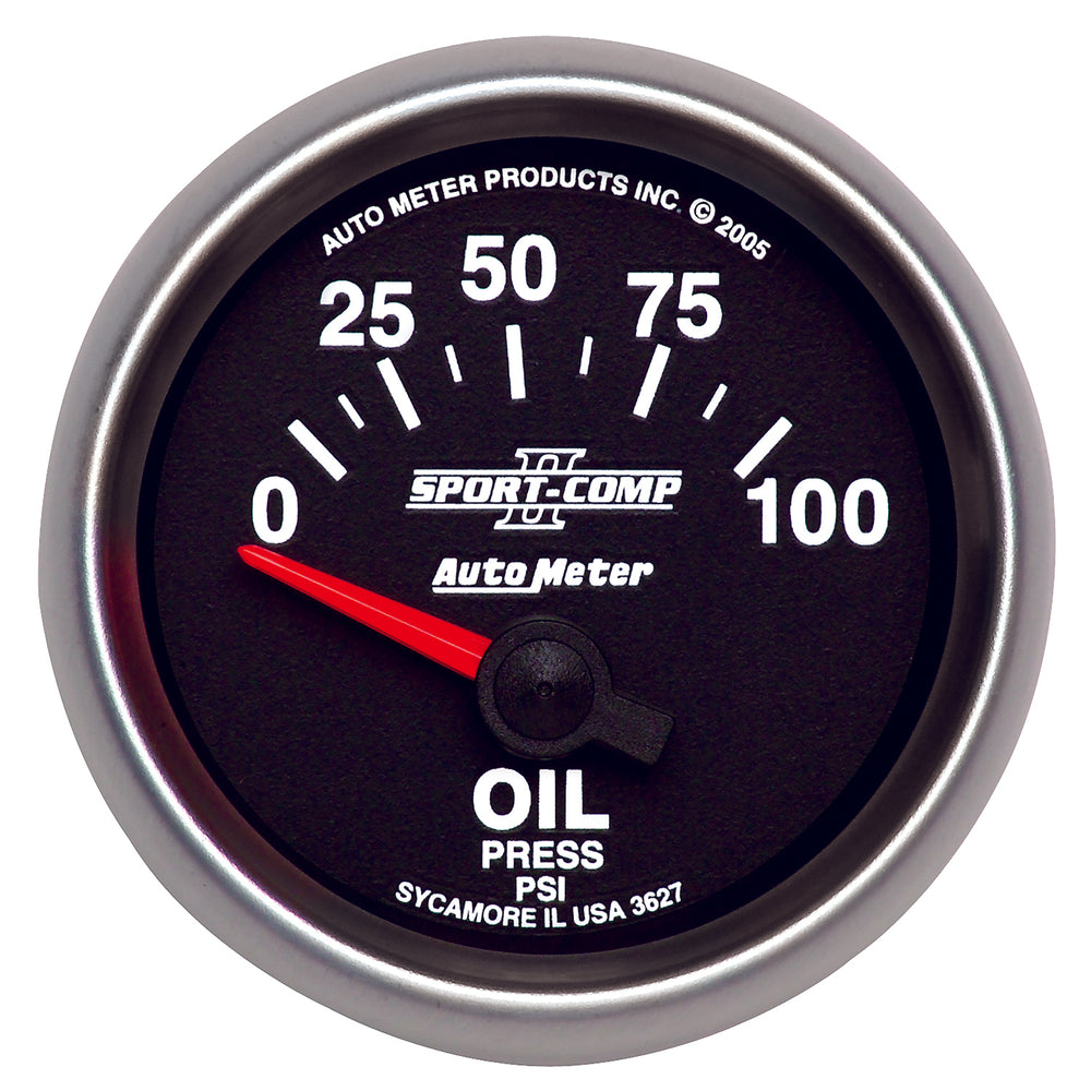 GAUGE, OIL PRESSURE, 2 1/16in, 100PSI, ELECTRIC, SPORT-COMP II
