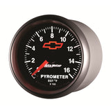 GAUGE, PYROMETER (EGT), 2 1/16in, 1600?F, STEPPER MOTOR, GM BOWTIE BLACK