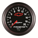 GAUGE, PYROMETER (EGT), 2 1/16in, 2000?F, STEPPER MOTOR, GM BOWTIE BLACK