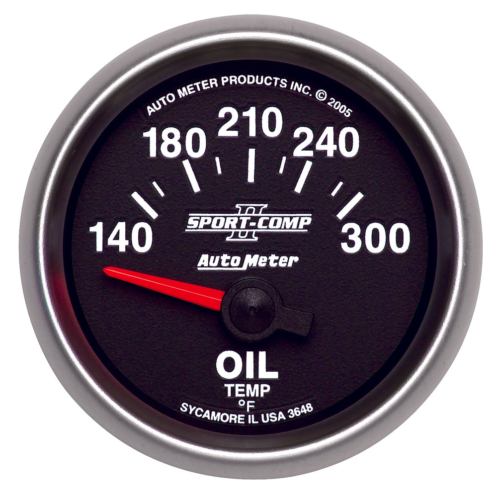 GAUGE, OIL TEMP, 2 1/16in, 140-300?F, ELECTRIC, SPORT-COMP II