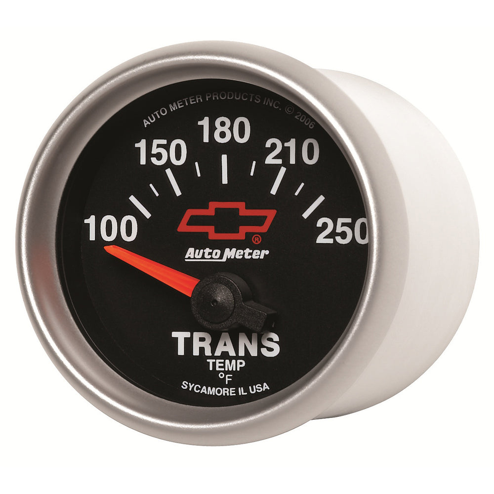 GAUGE, TRANSMISSION TEMP, 2 1/16in, 100-250?F, ELECTRIC, GM BOWTIE BLACK