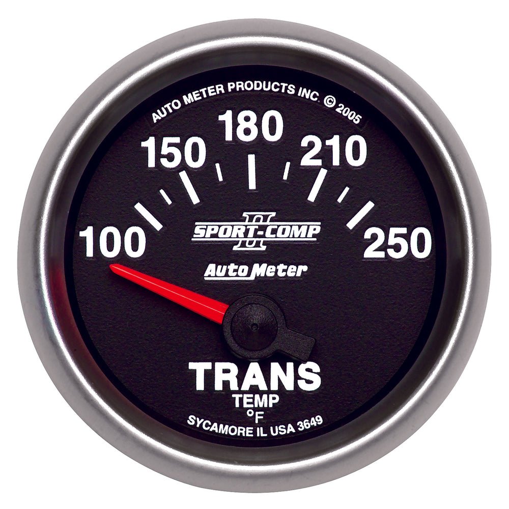 GAUGE, TRANSMISSION TEMP, 2 1/16in, 100-250?F, ELECTRIC, SPORT-COMP II