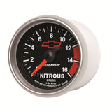GAUGE, NITROUS PRESSURE, 2 1/16in, 1600PSI, DIGITAL STEPPER MOTOR, GM BOWTIE BLK