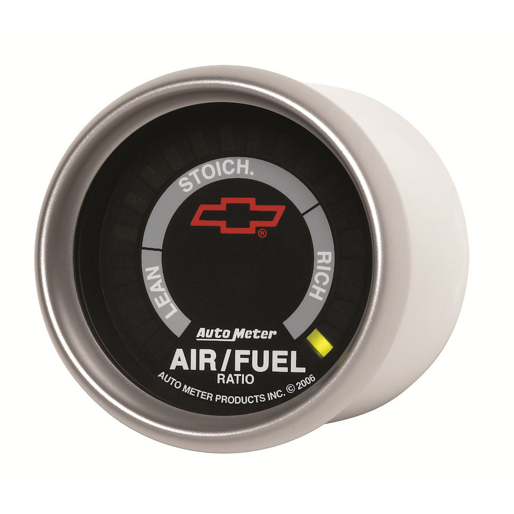 GAUGE, AIR/FUEL RATIO-NARROWBAND, 2 1/16in, LEAN-RICH, LED ARRAY, GM BOWTIE BLACK