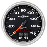 GAUGE, SPEEDOMETER, 5in, 160MPH, GPS, SPORT-COMP II