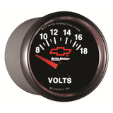 GAUGE, VOLTMETER, 2 1/16in, 18V, ELECTRIC, GM BOWTIE BLACK