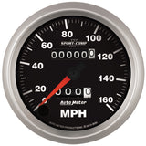 GAUGE, SPEEDOMETER, 3 3/8in, 160MPH, MECHANICAL, SPORT-COMP II